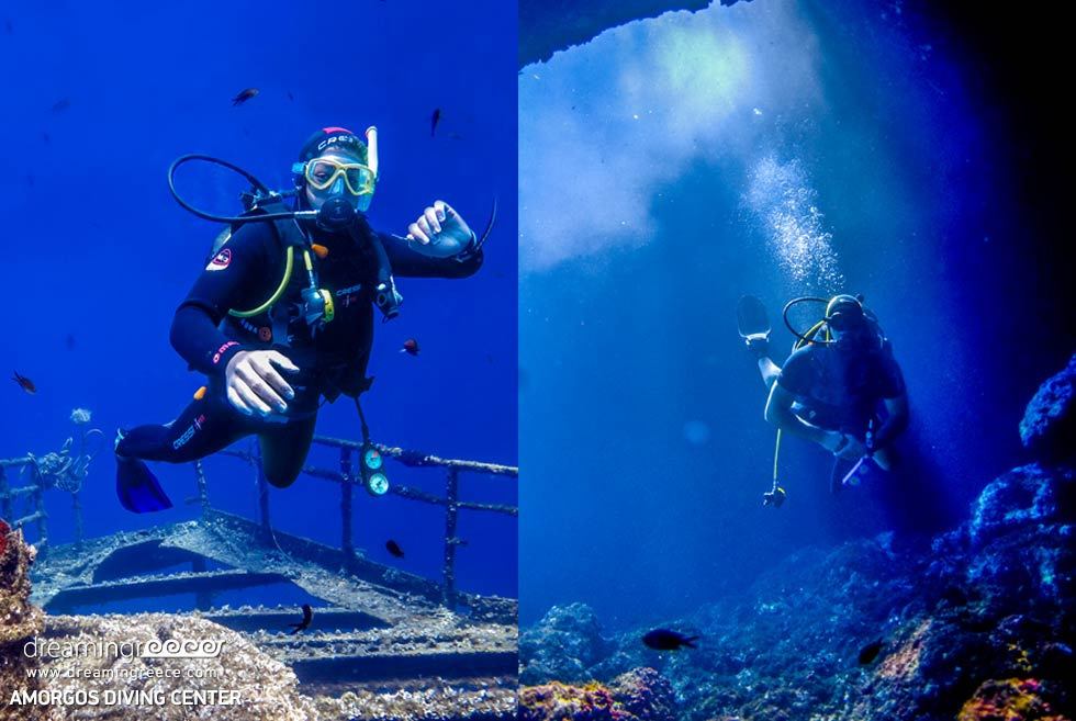 Amorgos Diving Center. Grambonissi in Greece.
