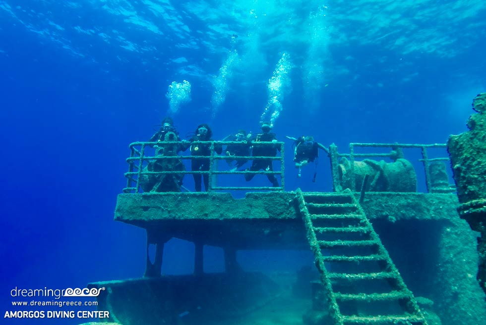 Amorgos Diving Center. a fantastic wreck dive in Greece