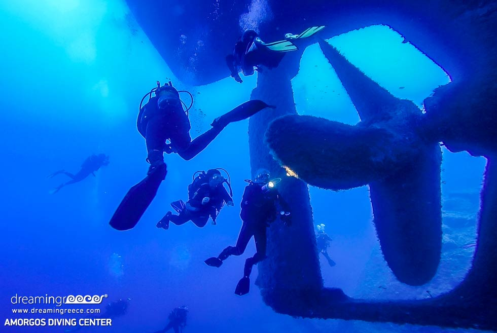 Amorgos Diving Center. Shipwreck Scuba diving in Greece