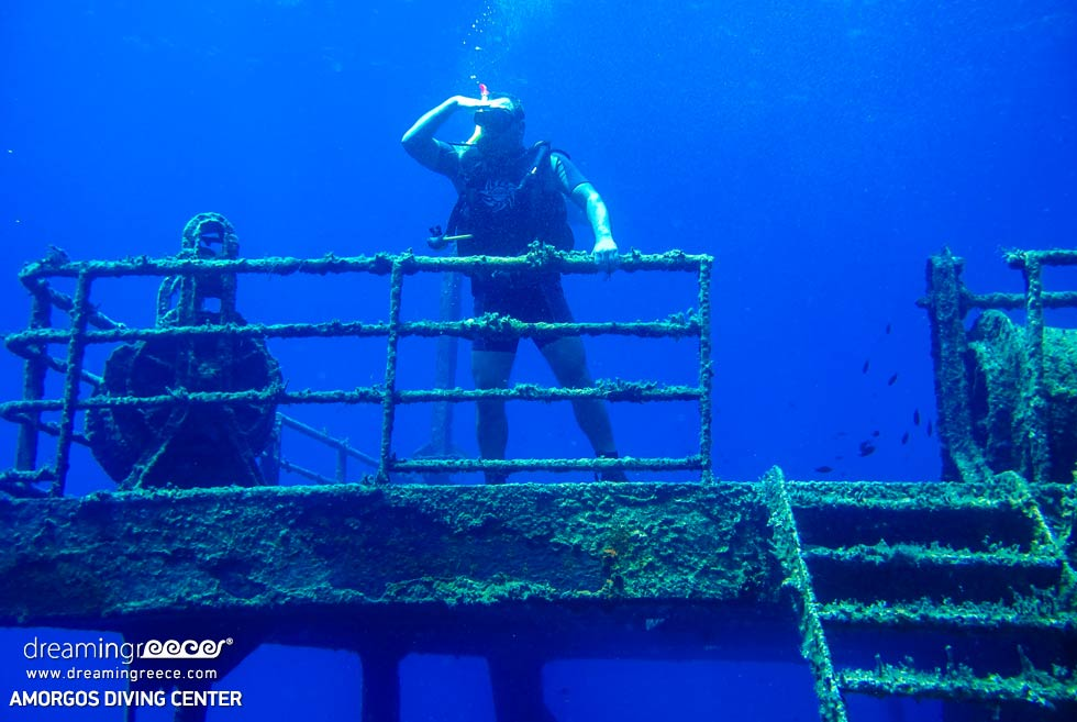 Amorgos Diving Center. Shipwreck Marina 3 Greece. Activities in Greece
