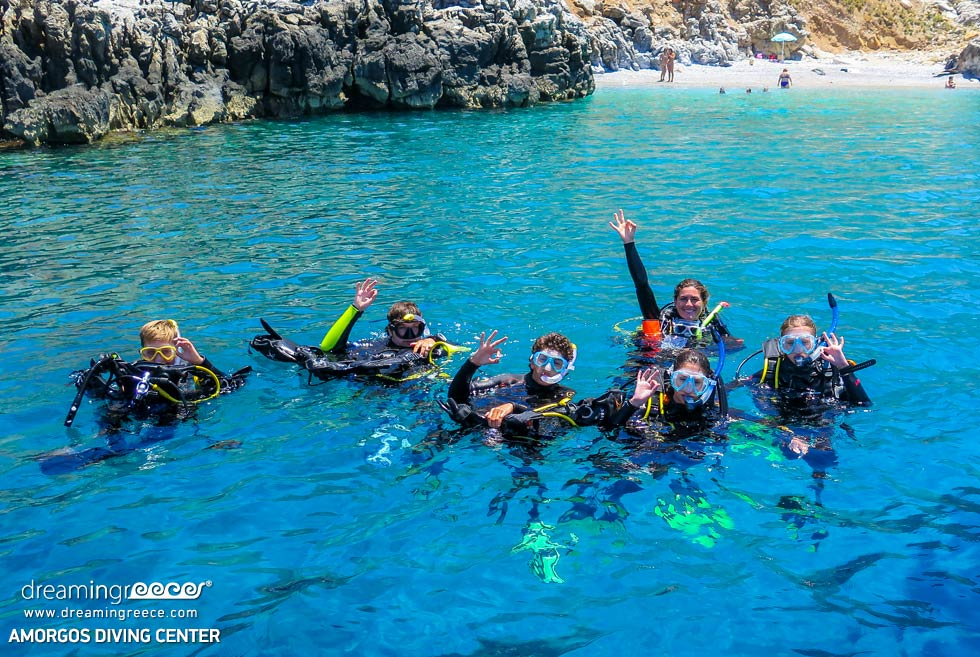 Amorgos Diving Center. 5 star padi diving center in Greece. Holidays in Greece