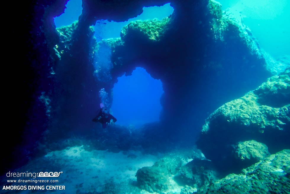 Amorgos Diving Center. Nikouria's Cavern in Greece