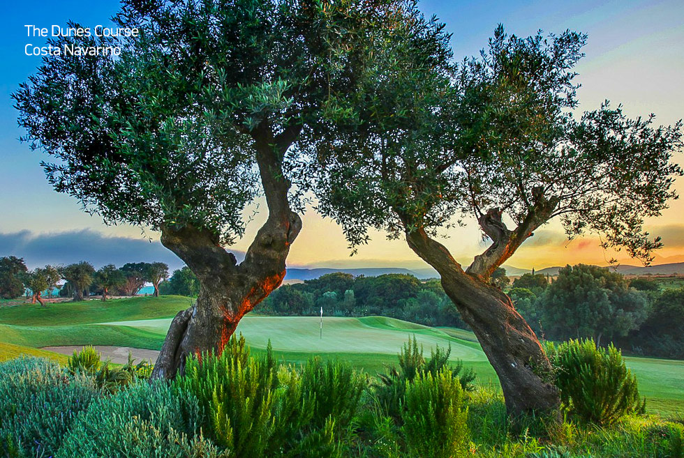 Costa Navarino. The dunes golf course. Activities in Greece.