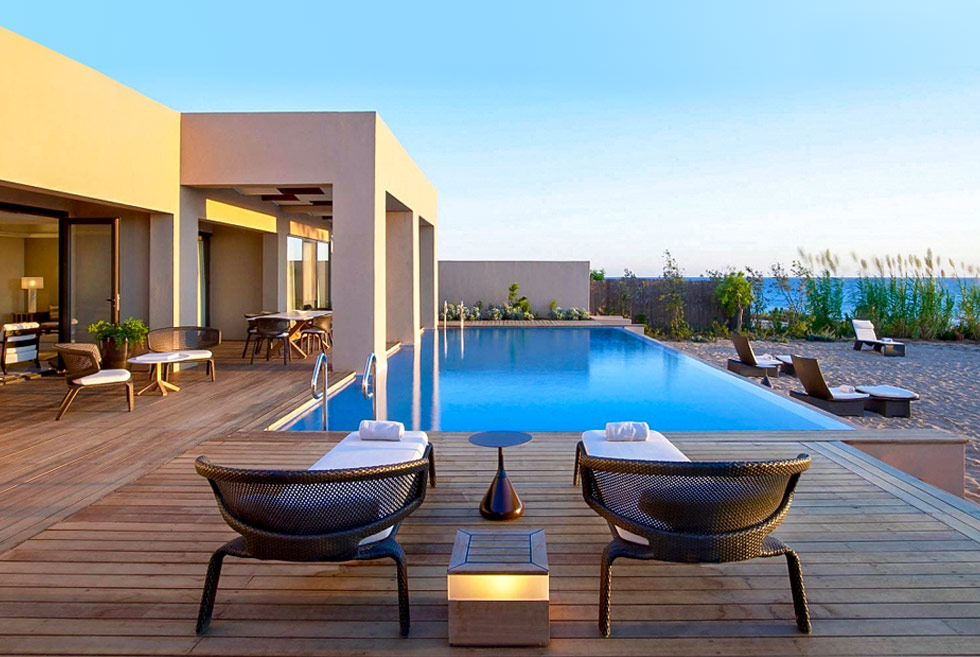 The Romanos, a Luxury Collection Resort. Hotel in Costa Navarino. Holidays in Greece.