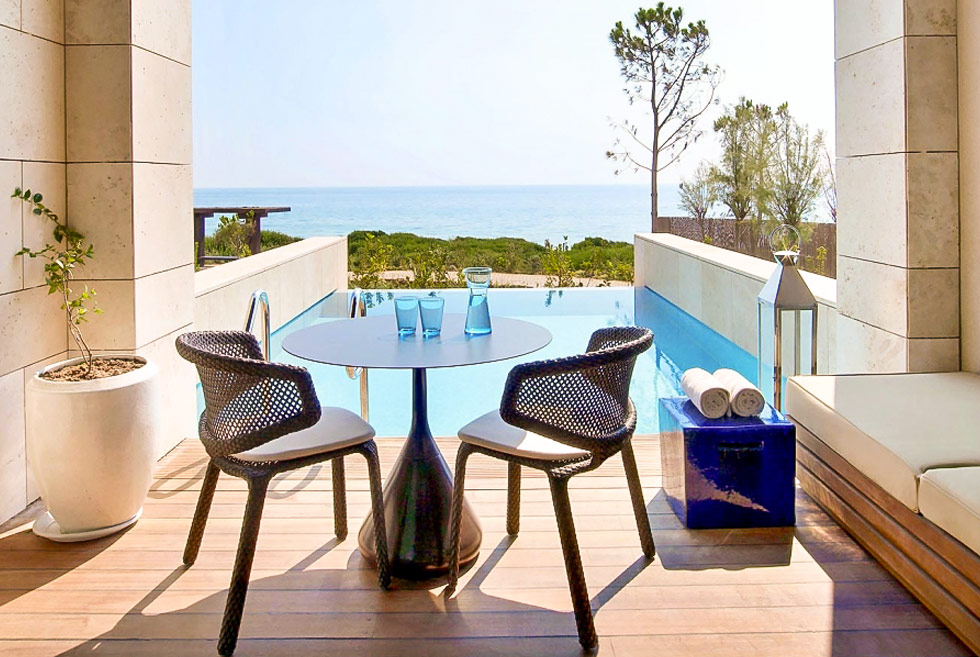 The Romanos, a Luxury Collection Resort. Hotel in Costa Navarino. Travel Guide of Greece.