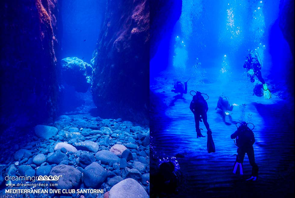 Diving Santorini Greek islands Greece. Discover Greece