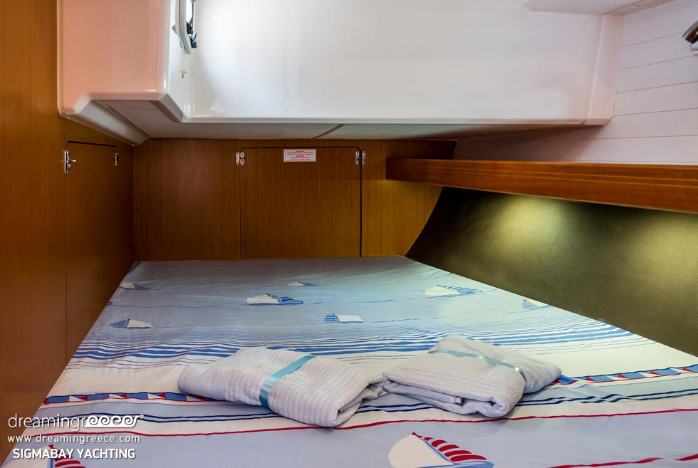 Yacht Charter in Greece. Bedroom. Sailing with SigmaBay Yachting in Greece.