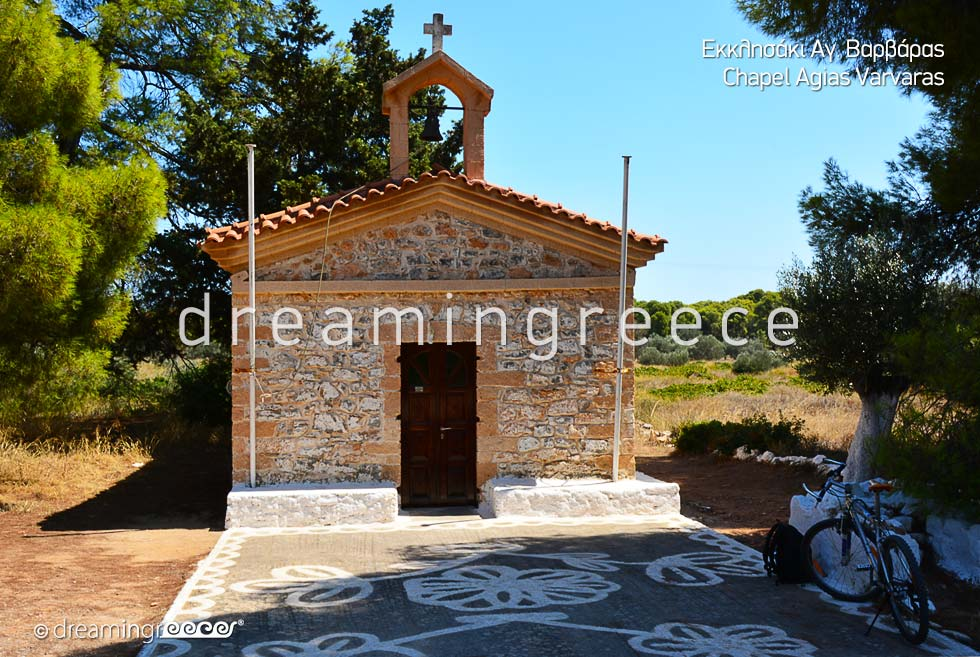 Chapel Agias Varvaras Agistri island. Visit Greece. Greece Travel.