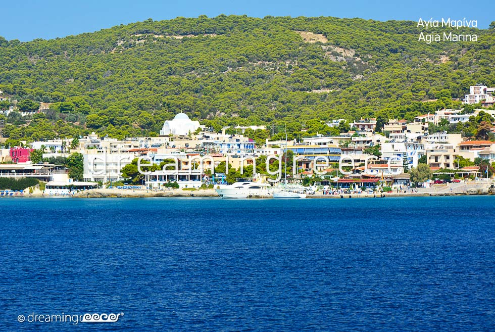 Agia Marina Aegina island. Visit Greece. Vacations Greece.