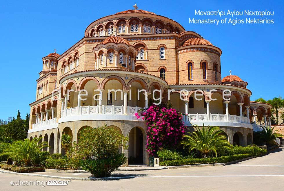 Holidays in Aegina island Greece - Monastery Agios Nektarios