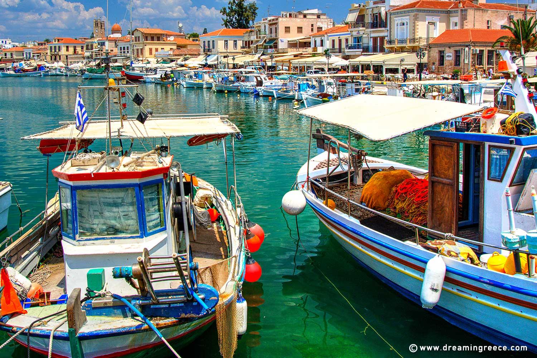 Holidays in Aegina island Argosaronic islands Greece. Vacations Greek islands