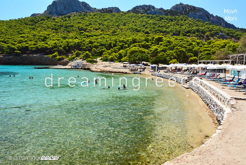 Moni Aegina island. Summer Vacations in Greece