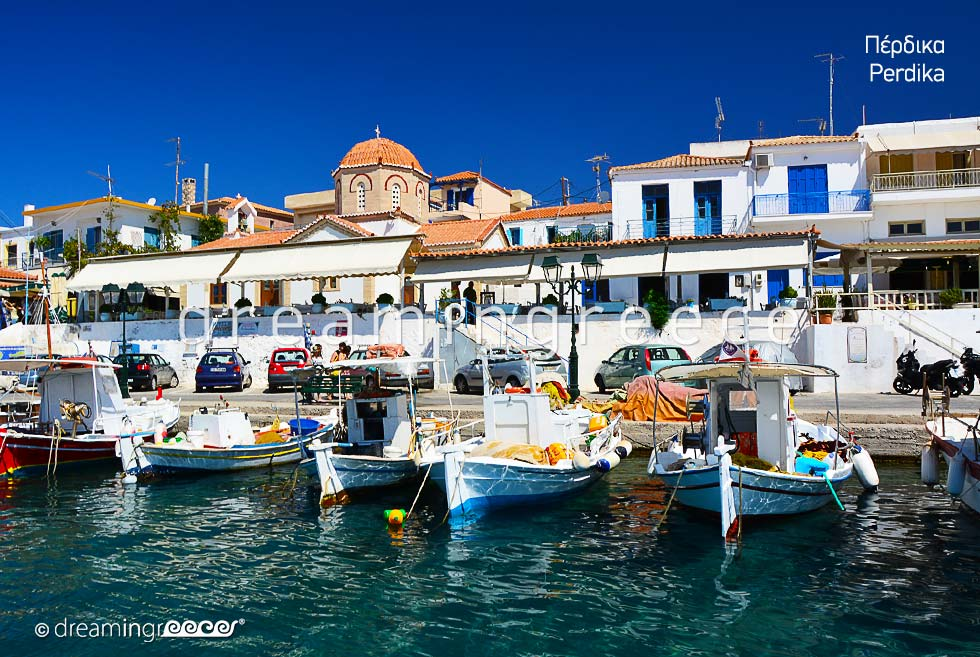 Perdika Aegina island. Travel guide of Greece Argosaronic islands