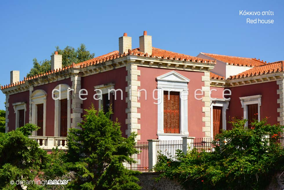 Red House in Chalkida. Discover Greece.