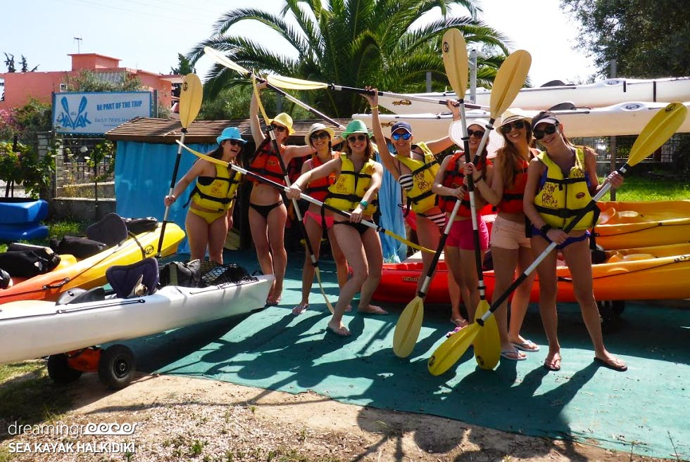 Halkidiki Sea Kayak Greece. Vacations in Greece