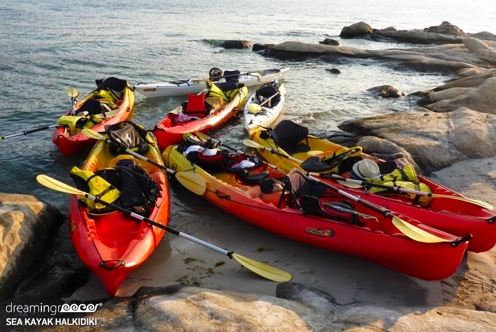 Sea Kayak Chalkidiki Kayaking. Tourist Guide of Greece