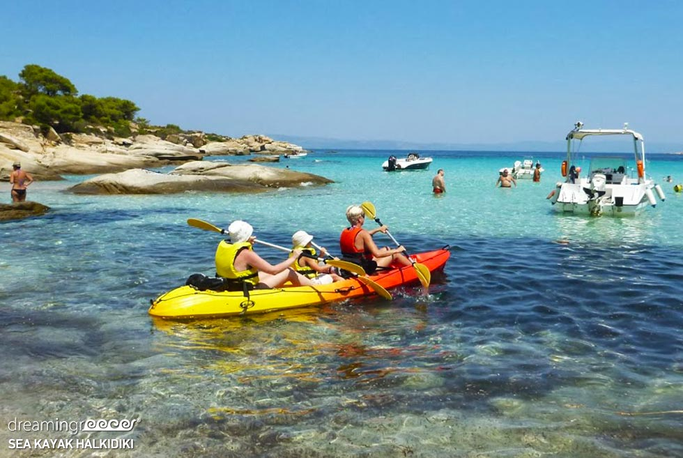Sea Kayaking in Halkidiki. Visit Greece holidays.