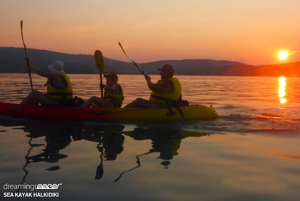 Sea Kayaking Halkidiki. Activities in Greece.
