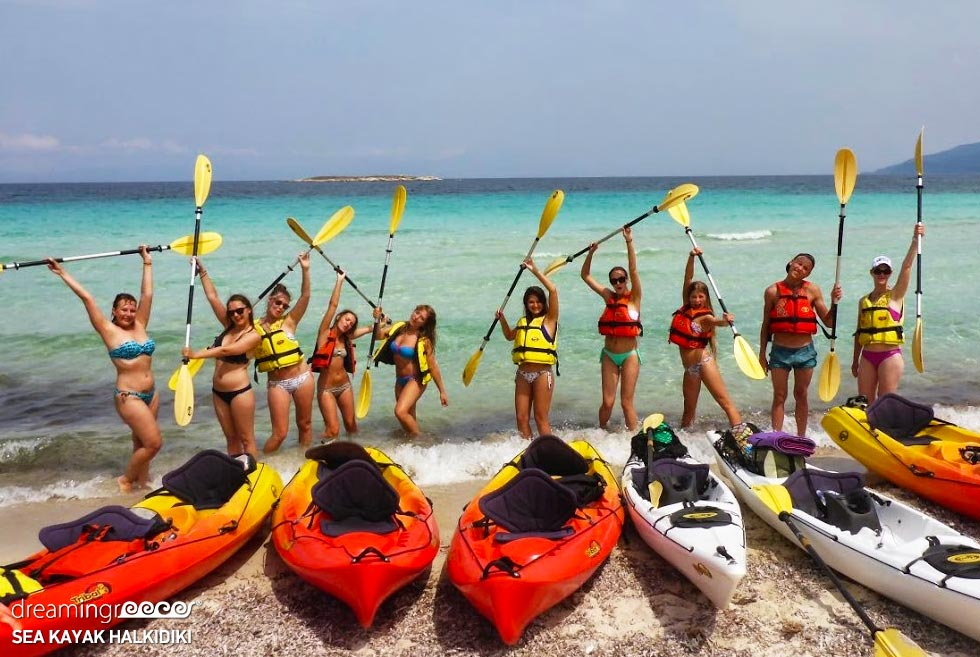 Sea Kayak Halkidiki Kayaking. Travel guide of Greece