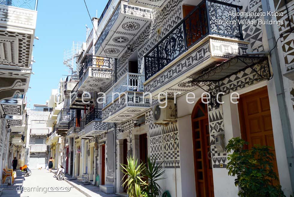 Striking Village Buildings Chios island Vacations