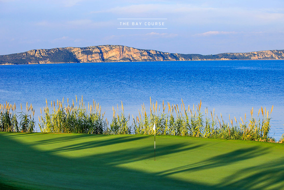 Costa Navarino Golf in Greece. The Bay Course. Golf courses in Messinia Peloponnese.