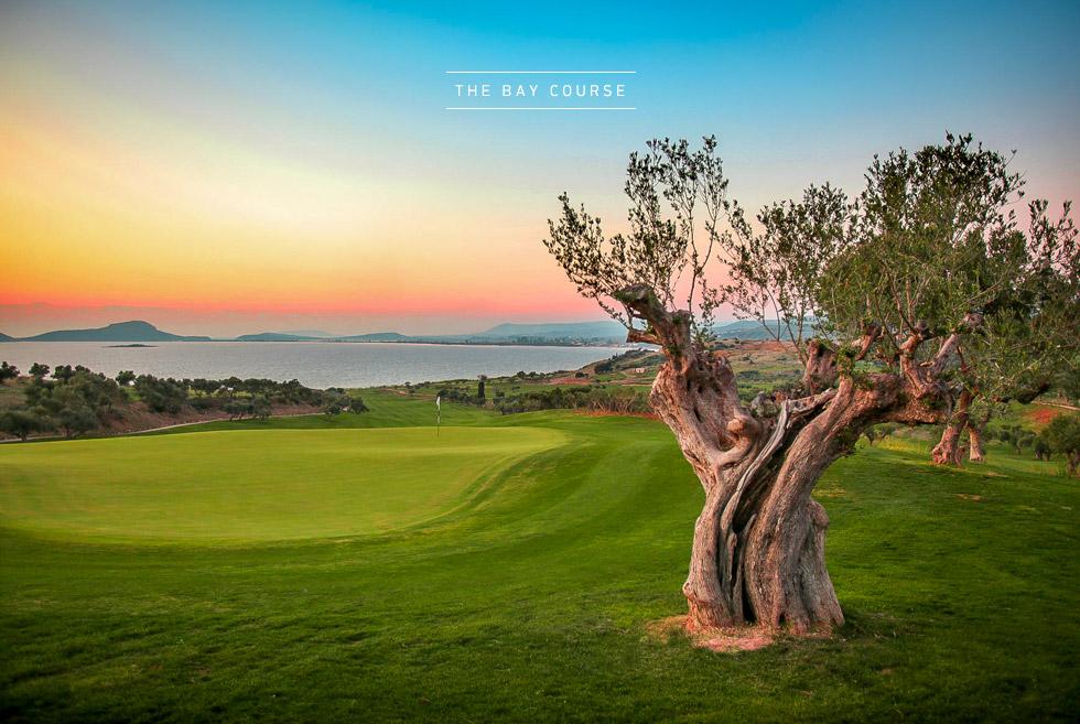 Costa Navarino Golf in Greece. The Bay Course. Luxury Hotels.