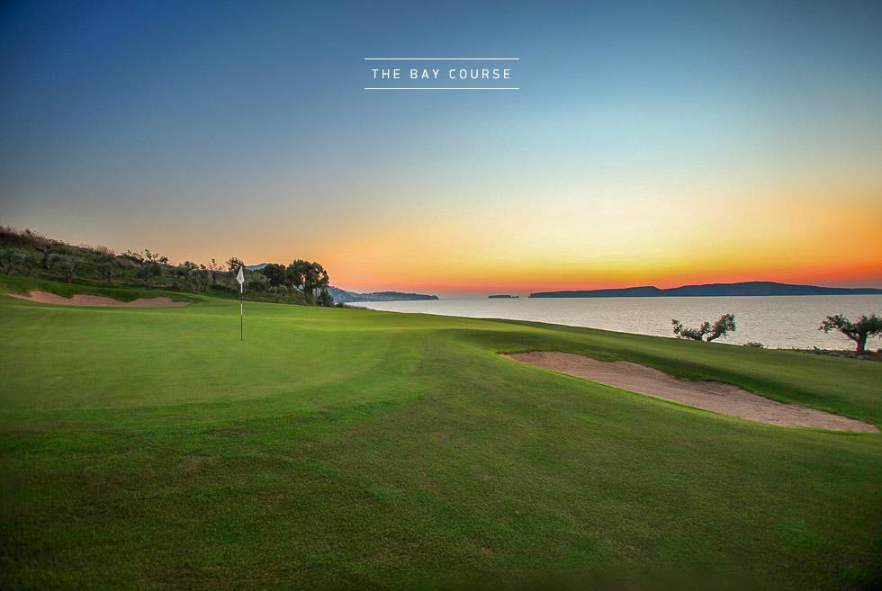 Costa Navarino Golf in Greece. The Bay Course. Luxury resorts.