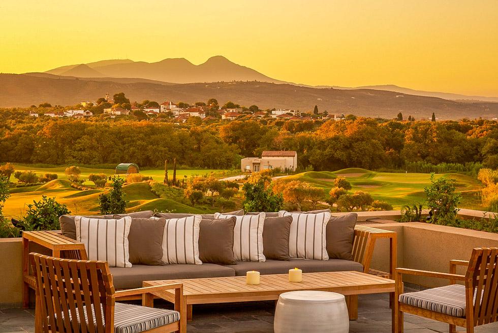 Costa Navarino Golf in Greece. The Dunes Clubhouse. Costa Navarino Hotels.