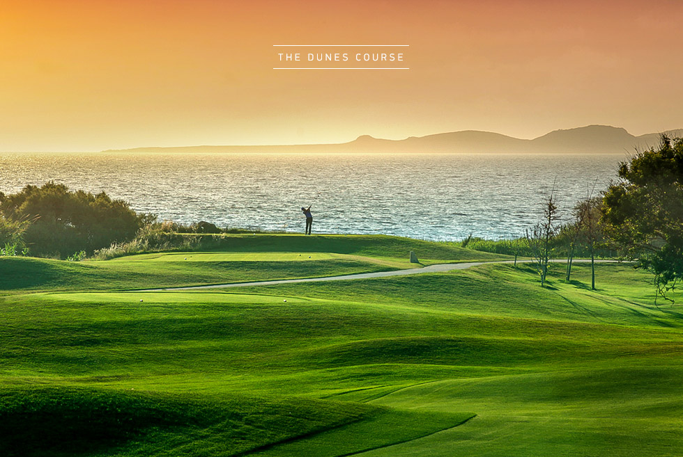 Costa Navarino Golf in Greece. The Dunes Course. Holidays in Greece.