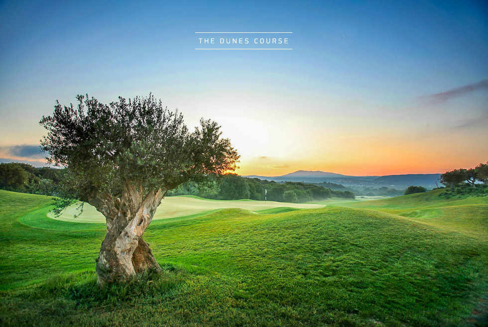 Costa Navarino Golf in Greece. The Dunes Course. Hotels in Greece.