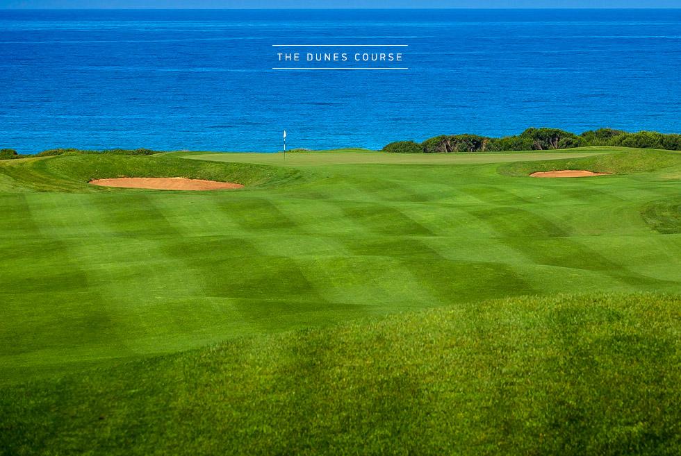 Costa Navarino Golf in Greece. The Dunes Course. Resort Golf Courses in Greece.