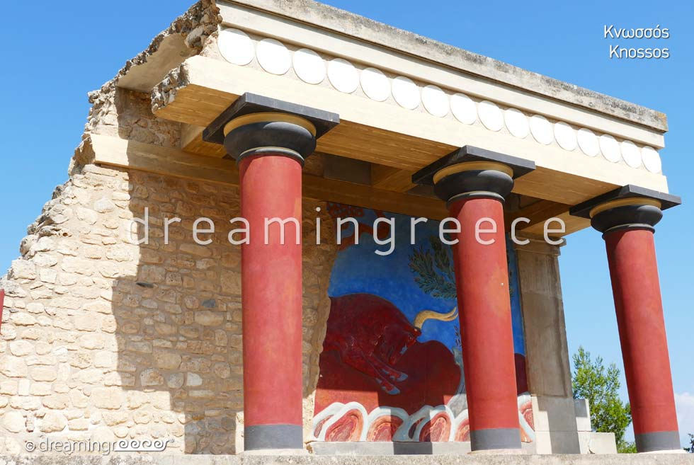 Knossos Heraklion Crete island. Archaeological sites in Heraklion Greece