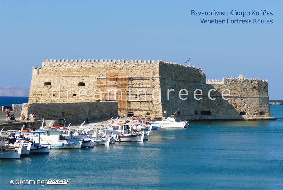 Venetian Fortress Koules Heraklion Crete island. Discover Greece