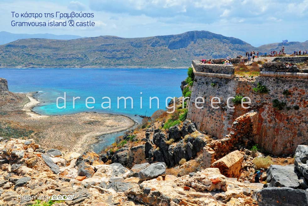 Gramvousa Castle Chania Crete island. Visit Greece. Holidays in Chania