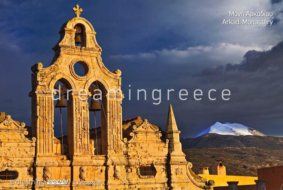 Arkadi Monastery Rethymno Crete island. Visit Greece