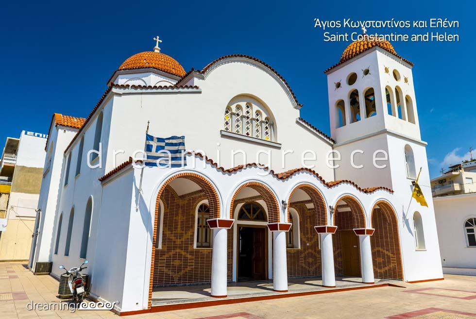 Church Saint Constantine and Helen Rethymno Crete island Greece