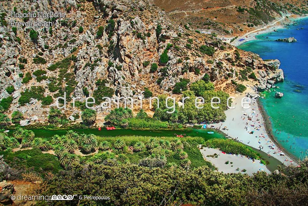 Preveli beach in Rethymno Crete Greece