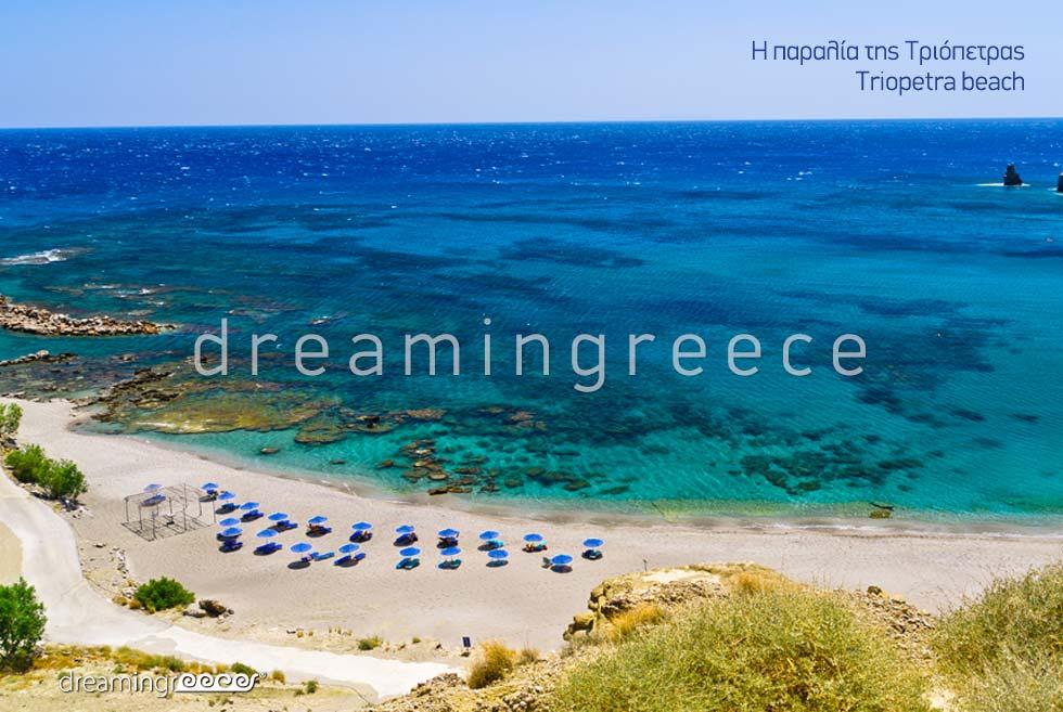 Triopetra beach in Rethymno Crete Greece