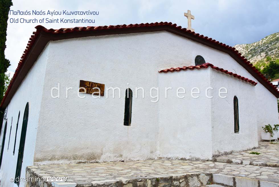 Old church of Saint Konstantinou in Delphi Greece