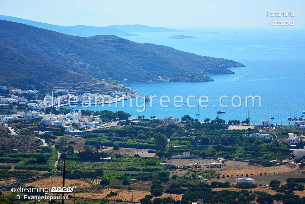 Katapola village. Holidays in Amorgos Cyclades islands