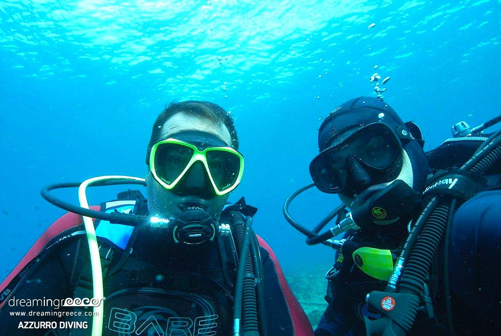 Azzurro Diving in Athens. Diving Centers Greece. Greek Travel.