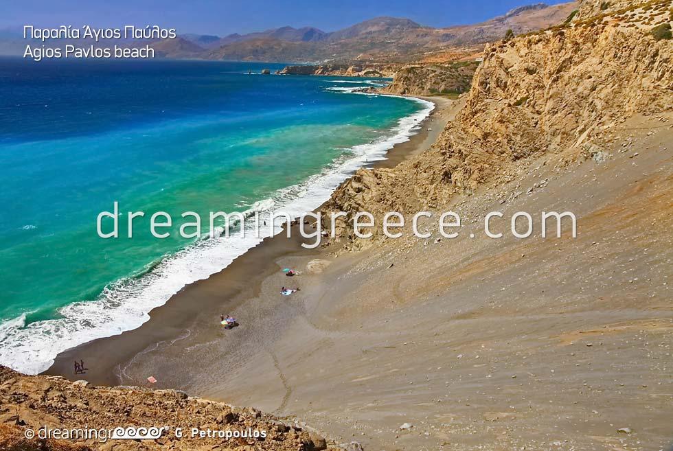 Agios Pavlos beach in Rethymno Crete Greece