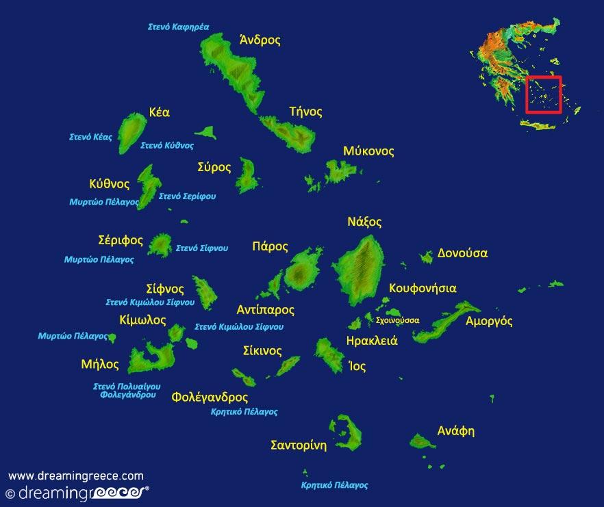 Κυκλάδες Χάρτης