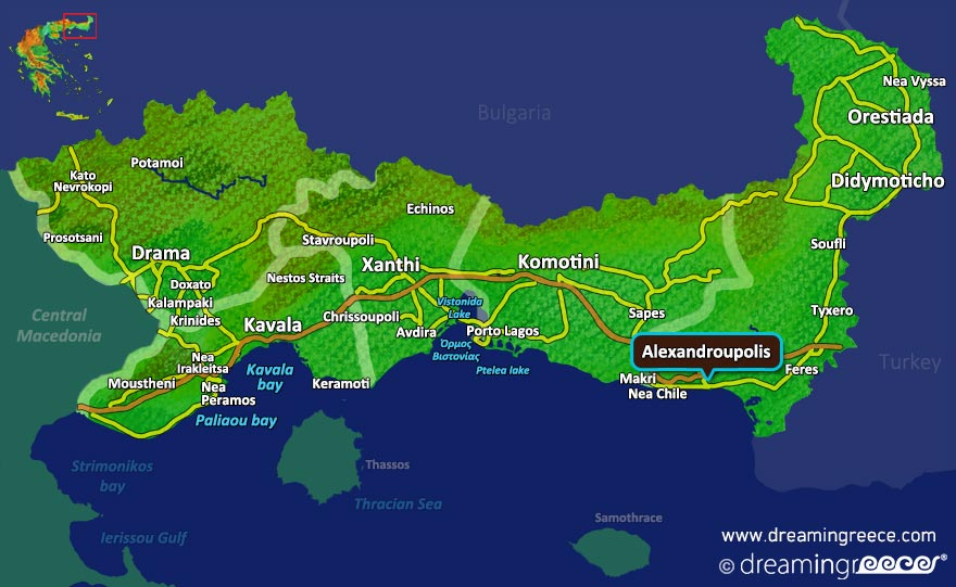 Alexandroupolis Map Greece. Holidays in Greece.