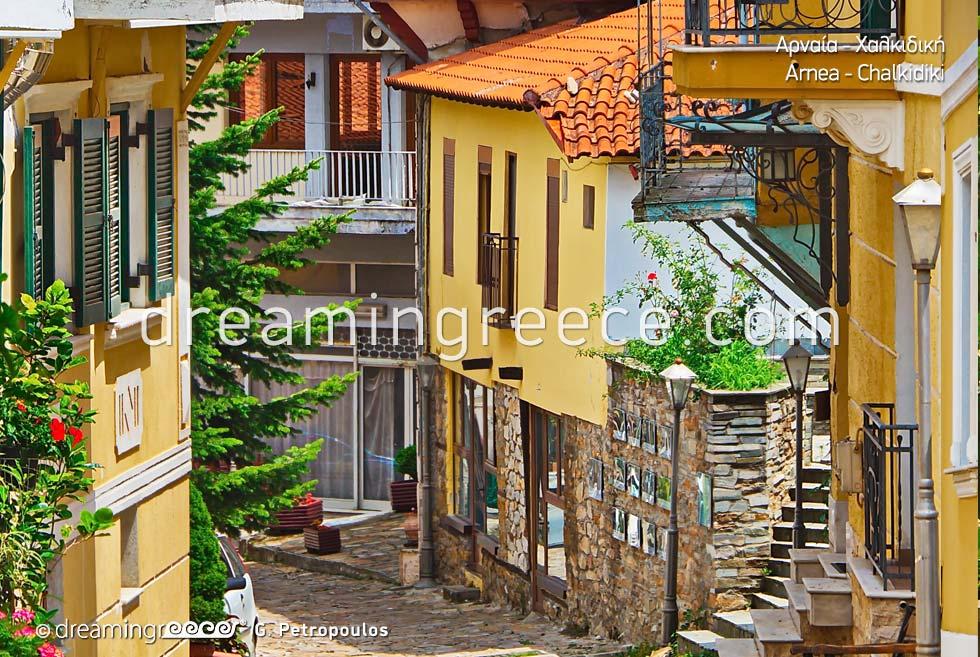 Arnea Halkidiki. Tourist Guide of Greece. Holidays Chalkidiki.