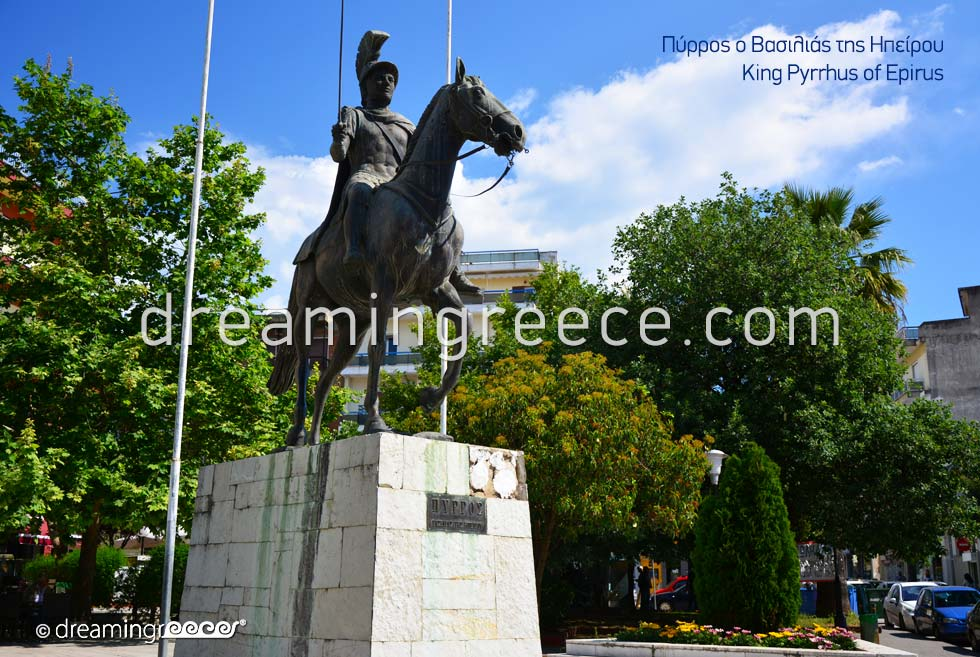 Pyrrhus of Epirus in Arta Greece