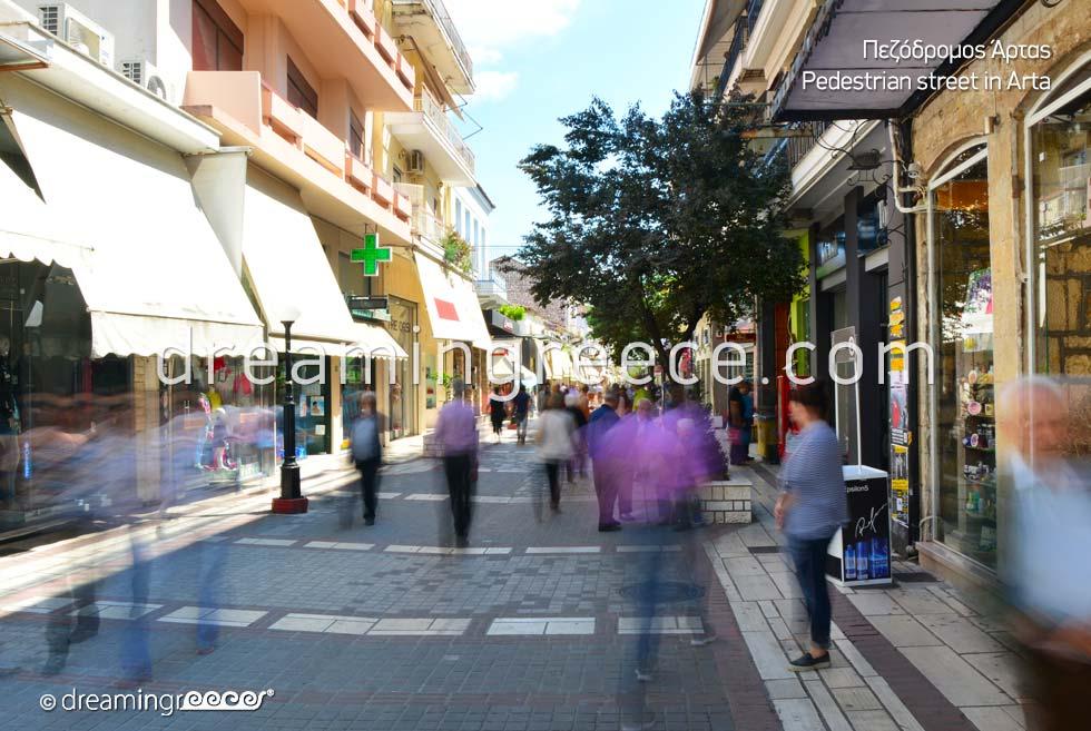 Walking in Arta Town Epirus Greece