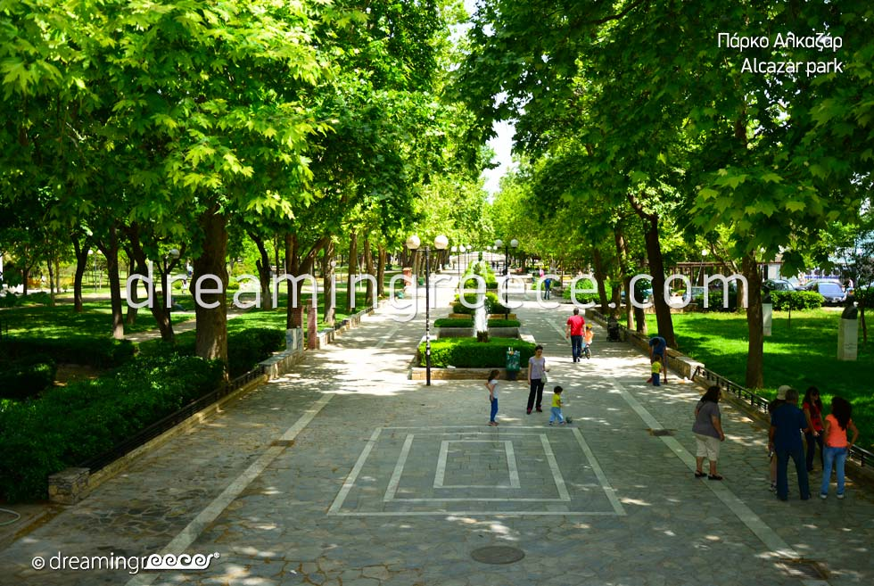 Alcazar Park in Larissa. Travel Guide Greece.