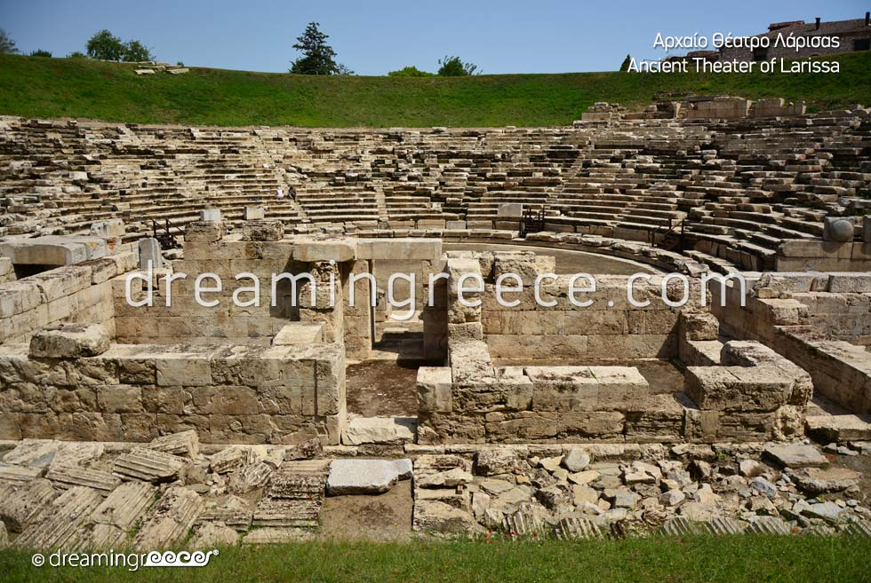 Ancient Theater of Larissa. Tourist Guide of Greece.