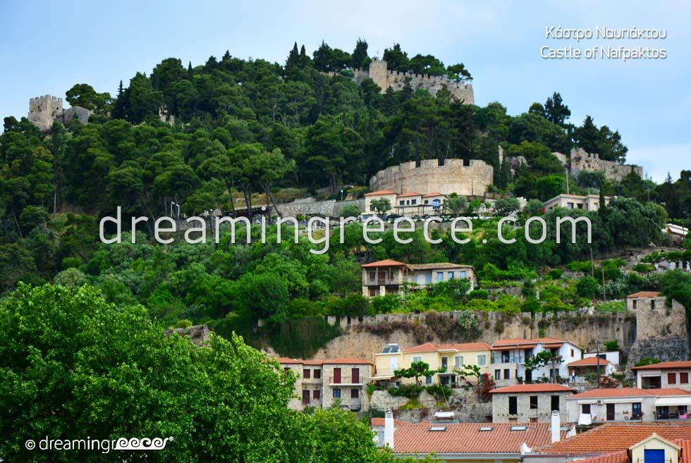 Castle of Nafpaktos. Dream in Greece.
